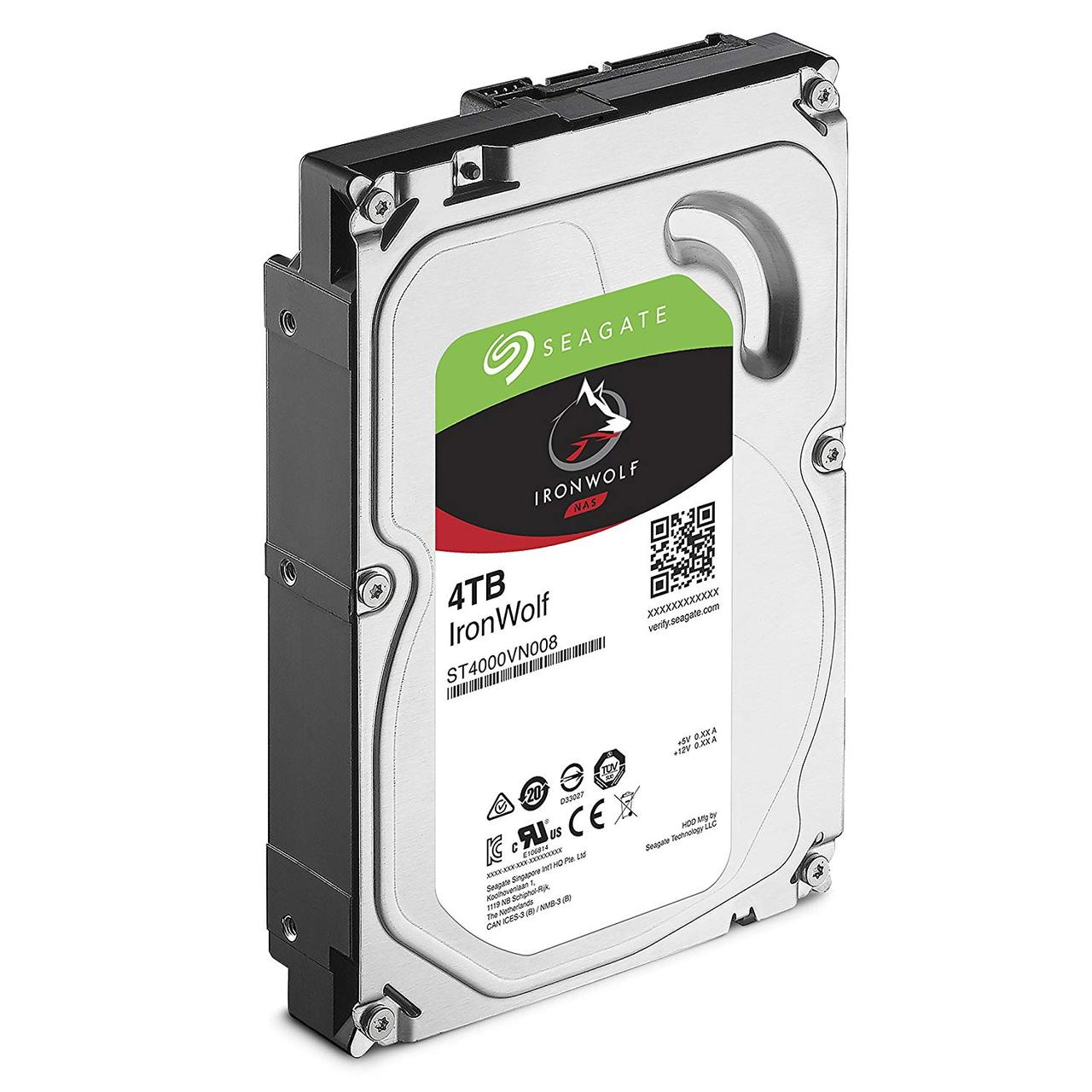 Жесткий диск для NAS систем 4Tb HDD Seagate IronWolf 64Mb ST4000VN008