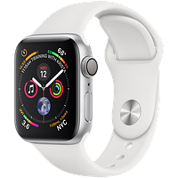 Apple Watch Series 4 40mm GPS Silver Aluminum Case with White Sport Band (MU642)