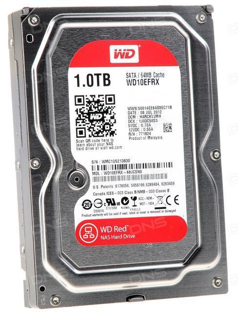 Жесткий диск для NAS систем HDD 1Tb Western Digital Red WD10EFRX