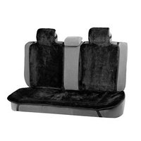 Накидки на заднее сиденье, нат. шерсть, 135 х 55 и 75 х 55 см, черный, набор 3 шт