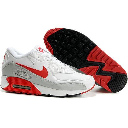 Nike Air Max 90 кроссовки белый с красным, фото 2