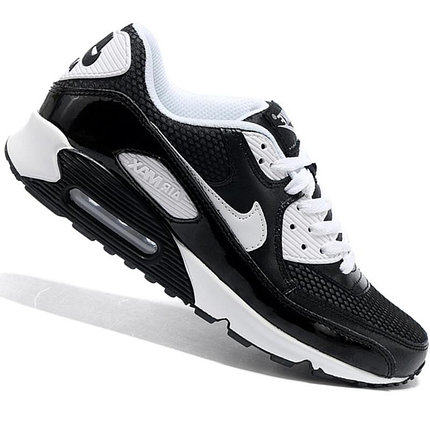 Nike Air Max 90 кроссовки черно-белые, фото 2