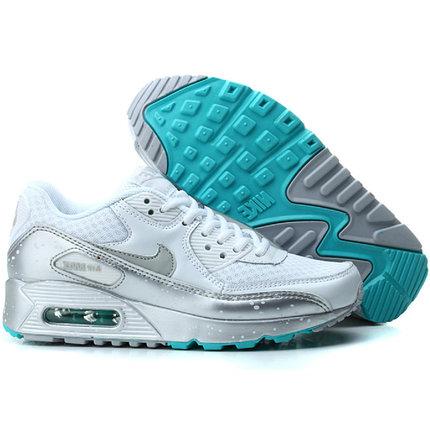 Nike Air Max 90 кроссовки бело-серые, фото 2