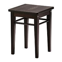 Табурет ЯНЕРИК черно-коричневый ИКЕА, IKEA
