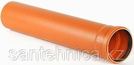 Труба с раструбом канализационная оранж. НПВХ Дн 160*4,0 L=3м Россия наруж.