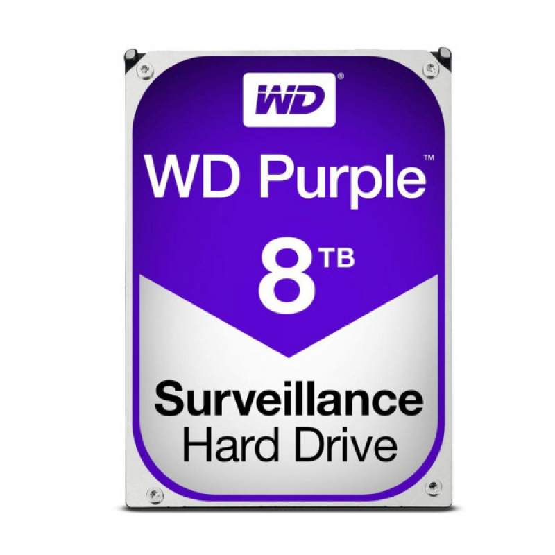 Жесткий диск для видеонаблюдения HDD 8Tb Western Digital Purple WD81PURZ
