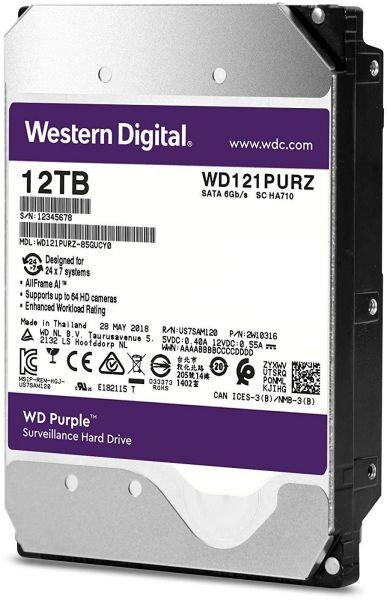 Жесткий диск для видеонаблюдения HDD 12Tb Western Digital Purple WD121PURZ