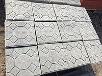 "Тротуарная плитка 3 см ""Цветок"" серый, фото 1"