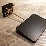 Ценник черный, меловый (размером с визитку), фото 5