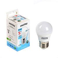 Лампа cветодиодная Smartbuy, G45, Е27, 5 Вт, 4000 К, холодный белый (комплект из 3 шт.)