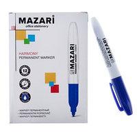Маркер перманентный 2.0 мм MAZARI Harmony М-5001 синий (комплект из 12 шт.)