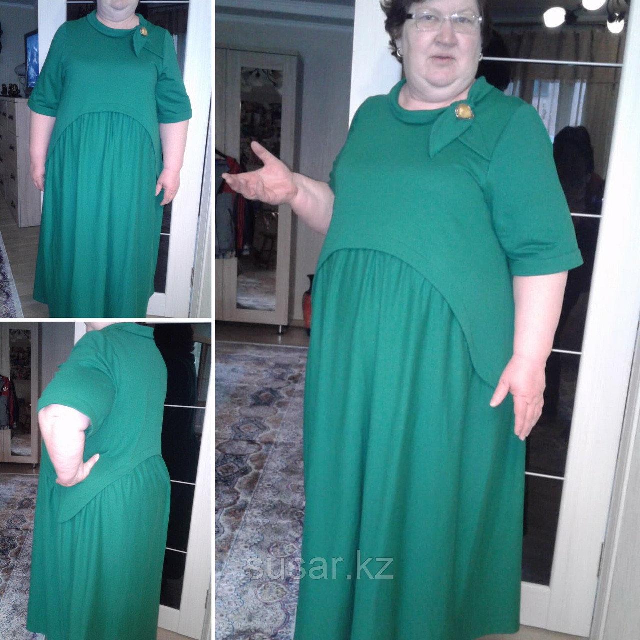 Платье зеленое летнее размер 56-68