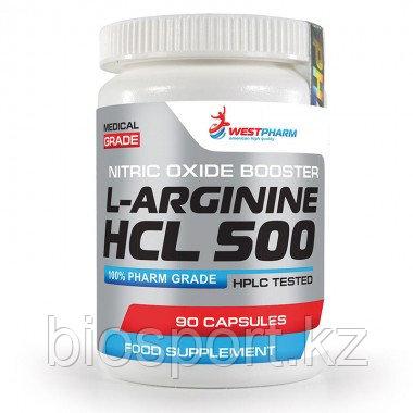 L-Arginine HCL 500 - 90 капсул по 500 мг (West Pharm)