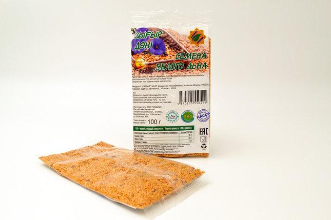 Семена белого льна КазБАД  100 гр., фото 2
