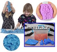 Набор кинетического песка для детей (1 кг песка, игрушки, надувная песочница) цвета и игрушки в ассортименте