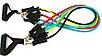 Универсальный эспандер резиновый трубчатый с ручками (комплект), фото 2