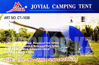 Четырехместная палатка для кемпинга и туризма Jovial CT-1036, доставка