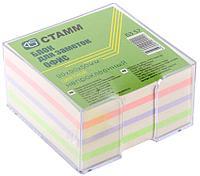 """Блок для записей СТАММ """"Офис"""" цветной в подставке 9х9х5 см"""