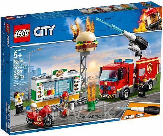Lego City 60214 Пожарные: Пожар в бургер-кафе, Лего Город Сити