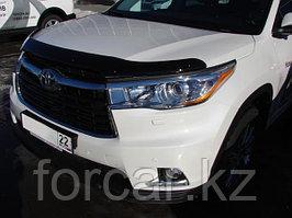 Дефлектор капота Toyota Highlander (Тойота Хайлендер) (2014-) темный