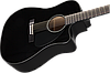 Электроакустическая гитара Fender CD-60CE Black, фото 3