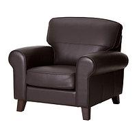 Кресло ЮСТАД темно-коричневый ИКЕА, IKEA, фото 1