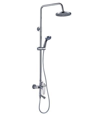 Смеситель одноручный для ванны с душевым гарнитуром и верхней лейкой  rossinka s35-46