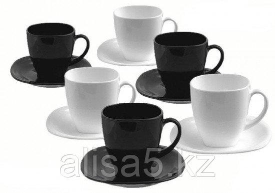 CARINE бело-черный сервиз чайный 22cl
