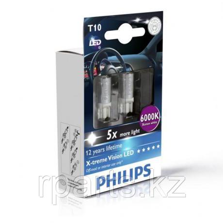 Светодиоды W5W (T10) Philips X-Treme Vision (+ 400%)