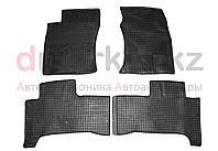Коврики полики Toyota Land Cruiser Prado 120, черные, резиновые, 4 предмета, фото 1