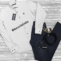 Мужская рубашка в полоску, фото 1