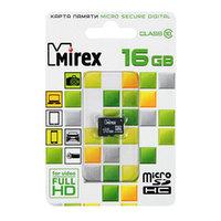Карта памяти Mirex microSD, 16 Гб, SDHC, класс 10