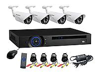 Готовые коплект видеонаблюдения 2мп AHD 4 уличныу камеры , фото 1