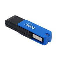 Флешка USB2.0 Mirex CITY BLUE, 32 Гб, чт до 25 Мб/с, зап до 15 Мб/с, синяя