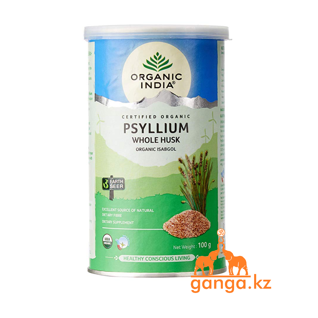 Псиллиум  (Organic Whole Husk Psyllium ORGANIC INDIA), 100гр.
