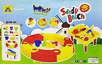 Песочница складная круглая с аксессуарами + стол Sandy Beach