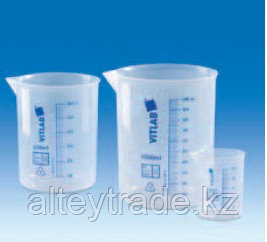 Стакан полипропилен 150 мл, ц.д.20 мл, синяя печатная шкала (РР) (VITLAB)