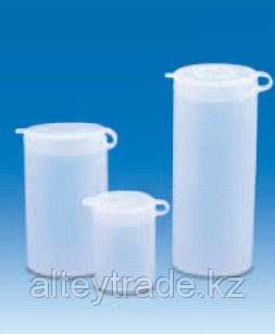Виала для образцов полиэтиленовая, V-5 мл, с плотно закрывающейся навесной крышкой (PE-LD) (VITLAB)