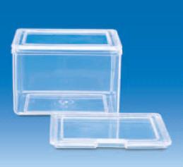 Сосуд для окрашивания с двумя крышками, прозрачный, 101х81х86 мм, (РMР) (VITLAB)