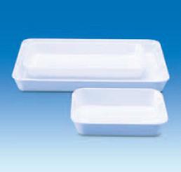 Лоток пластиковый, глубокий, белый, 350х250х40 мм (MF) (VITLAB)
