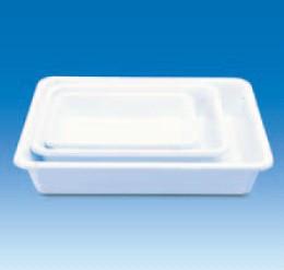 Лоток пластиковый, глубокий, белый, 430х330х95 мм (PVC) (VITLAB)