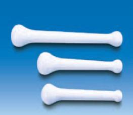 Пестик пластиковый L-215 мм, белый, прочный (MF) (VITLAB)