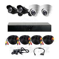 AHD Готовый комплект видеонаблюдения из 2 внутрений и 2 уличный камеры, фото 1