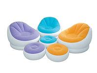 Кресло надувное Intex Cafe Chaise Chair 68572 c пуфиком