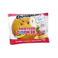 Низкокалорийное печенье BombBar - Protein Cookie, 40 гр Вишня, фото 1