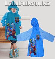 Дождевик детский из непромокаемой ткани с капюшоном (Человек Паук) XS