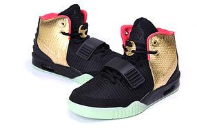 Кроссовки Nike Air Yeezy 2 (Kanye West) черные с золотом