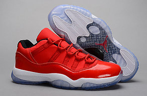 Nike Air Jordan 11 low Concord баскетбольные кроссовки красные, фото 3