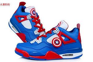 Баскетбольные кроссовки Nike Air Jordan 4 Kaptain America , фото 2