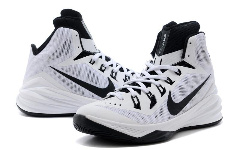 Баскетбольные кроссовки Nike Lunar Hyperdunk 14 ( XIV ) бело-черные